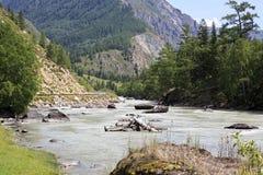 Beautiful views of River Chuya near Chuysky Trakt Stock Photo