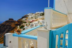 Beautiful views of Santorini Greece stock image