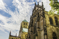 Beautiful views St.-Paulus-Dom in germany Stock Photos