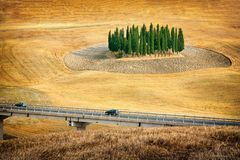 Beautiful views of summer landscape in Tuscany Royalty Free Stock Images
