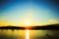 Beautiful Views Sunset Royalty Free Stock Photography