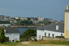 Beautiful Views Of The Village Of Ribadeo From Castropol royalty free stock images