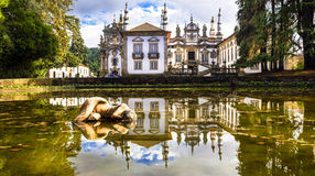 Beautiful Vila real castle in Portugal (casa de Mateus) Stock Photos