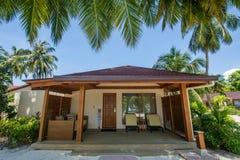 Beautiful villa at the tropical island resort royalty free stock images