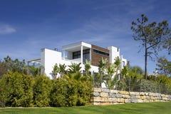 Beautiful villa with garden royalty free stock photo