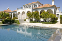 Beautiful villa with garden and pool Stock Photo