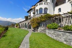 Beautiful villa with green garden Stock Photo