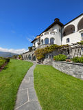 Beautiful villa with green garden Royalty Free Stock Photography