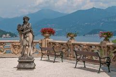Beautiful villa at lake Como. Royalty Free Stock Image