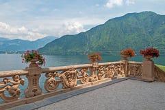 Beautiful villa at lake Como. Stock Image