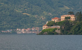Beautiful villa at lake Como. Stock Photo
