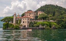 Beautiful villa at lake Como. Royalty Free Stock Images