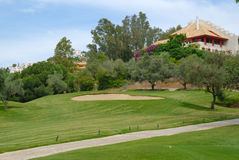 Beautiful villa next to golf course Royalty Free Stock Photo