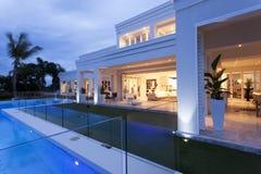 Beautiful villa with a pool Stock Photos