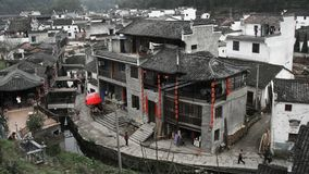 Beautiful village. In wuyuan, which is regarded as the most beautiful country in China stock photo