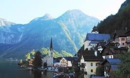 Hallstatt. A beautiful village in the Austrian Alps Stock Photos