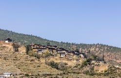 Beautiful village, Bhutan Stock Images