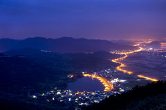 Beautiful village in China. Revolves around a beautiful village reservoir Royalty Free Stock Images