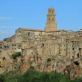 Beautiful village on cliff Stock Image