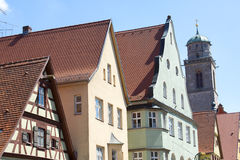 Beautiful village Dinkelsbuhl Royalty Free Stock Photography
