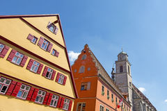 Beautiful village Dinkelsbuhl Royalty Free Stock Images
