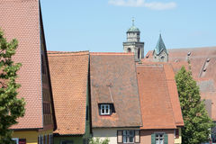 Beautiful village Dinkelsbuhl Stock Photography