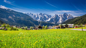 Beautiful village Gosau in Alps Royalty Free Stock Photography