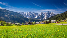 Beautiful village Gosau in Austrian Alps, Europe Royalty Free Stock Photography