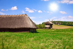 Beautiful village landscape Stock Photos