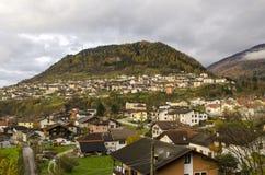Beautiful village landscape in Italian Alps Royalty Free Stock Photo