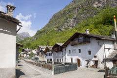 Beautiful village of Mont Cenis Stock Image