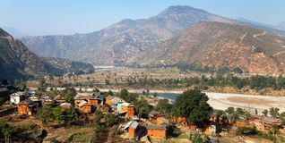 Beautiful village in Nepal Royalty Free Stock Image
