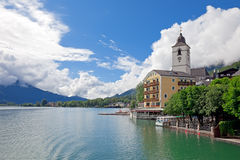 Beautiful village St. Wolfgang, Austria Royalty Free Stock Photography
