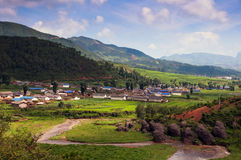 Beautiful village in sunshine Stock Image