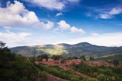 Beautiful village in sunshine Stock Photos
