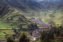 Beautiful village in sunshine Stock Image
