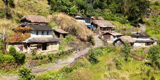 Beautiful village in western Nepal Stock Photo