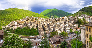 Beautiful  villages of Abruzzo - Scanno. Italy Royalty Free Stock Photos
