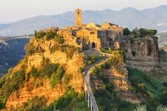 Beautiful villages of Italy - Civita di Bagnoregio Stock Images