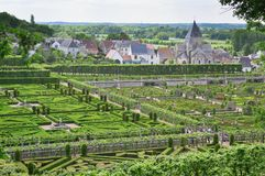 Beautiful Villandry castle France Stock Photos