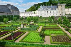 Beautiful Villandry castle, France Royalty Free Stock Images