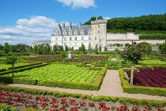 Beautiful Villandry castle, Loire valley Stock Photo