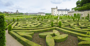 Beautiful Villandry chateau , Loire valley, France Royalty Free Stock Images