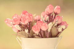 Beautiful of vintage artificial roses Royalty Free Stock Photos