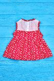 Beautiful vintage baby-girl dress. Royalty Free Stock Photography