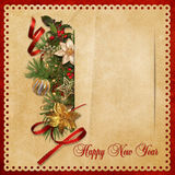 Beautiful vintage background with Christmas decorations Stock Images