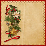 Beautiful vintage background with Christmas decorations Royalty Free Stock Photos