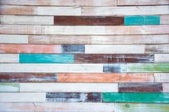 Beautiful vintage background with old painted boards.  Stock Photography
