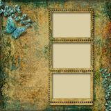 Beautiful vintage background with photo-frame Royalty Free Stock Photography