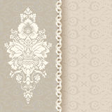Beautiful vintage background with seamless pattern Royalty Free Stock Photos